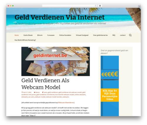WordPress website template Twenty Thirteen - geldinternet.be