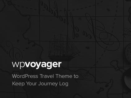 WPVoyager (shared on wplocker.com) WordPress blog theme