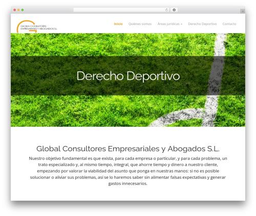 Arcade Basic best free WordPress theme - globalconsultores.es