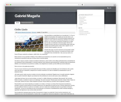 Best WordPress template Fusion - gabrielmagana.net
