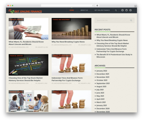 Blogging By MyThemeShop template WordPress - getonlinefinance.com