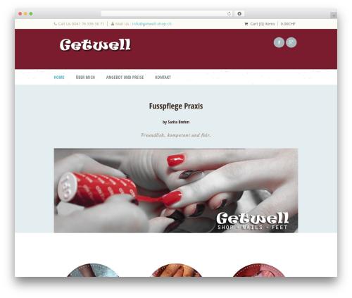 Dream Spa WordPress ecommerce template - getwell-shop.ch