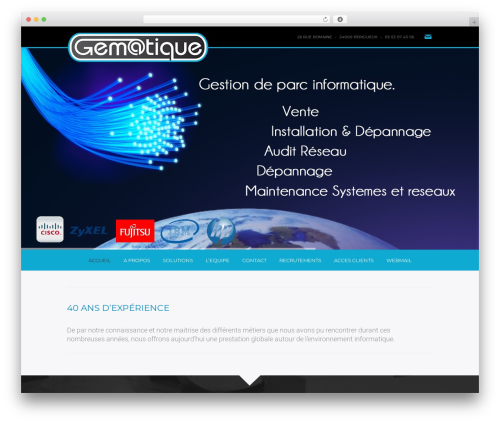 Omni best WordPress template - gematique.com