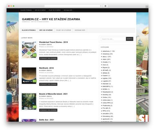 Project AR2 WordPress gaming theme - gamein.cz