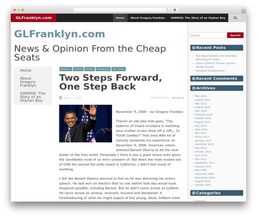 SmartAdapt WordPress theme - glfranklyn.com