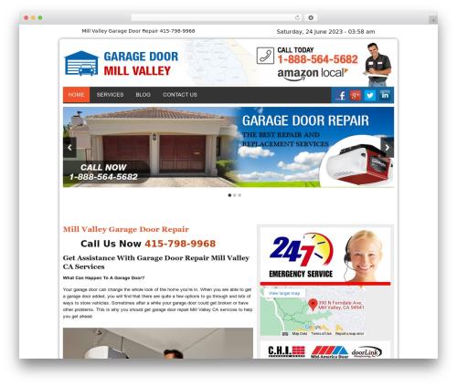 Twenty Thirteen best WordPress theme - garagedoormillvalleycal.com