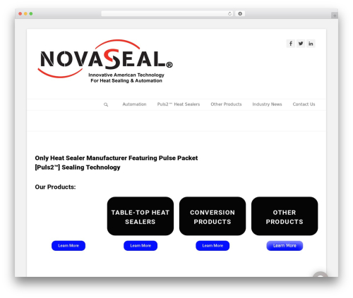 WordPress theme Catch Base Pro - novaseal.com