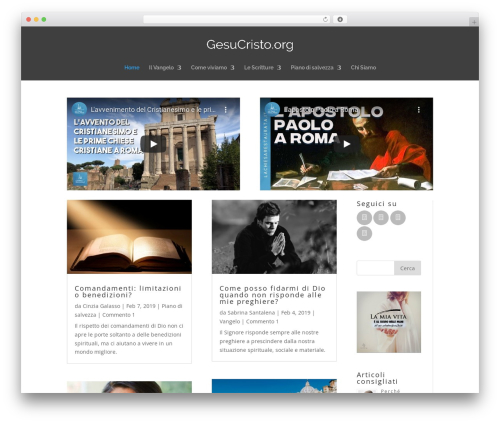 WordPress theme Divi - gesucristo.org