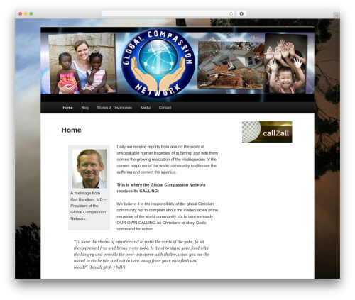WordPress theme Twenty Eleven - globalcompassion.org