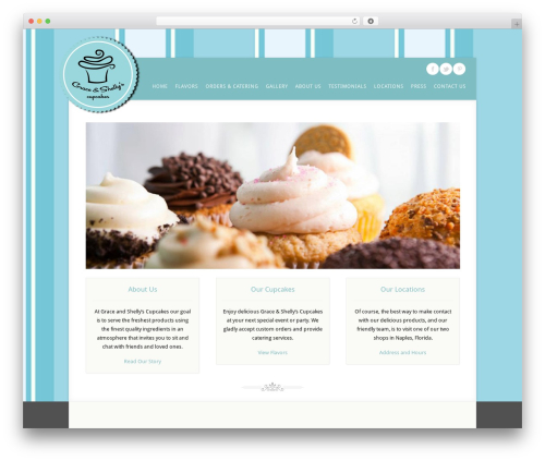 Acoustic WordPress theme - graceandshellyscupcakes.com