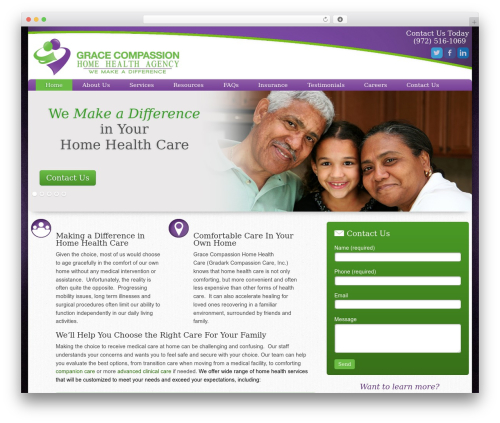 Augustus WordPress theme - gracecompassionhomehealth.com