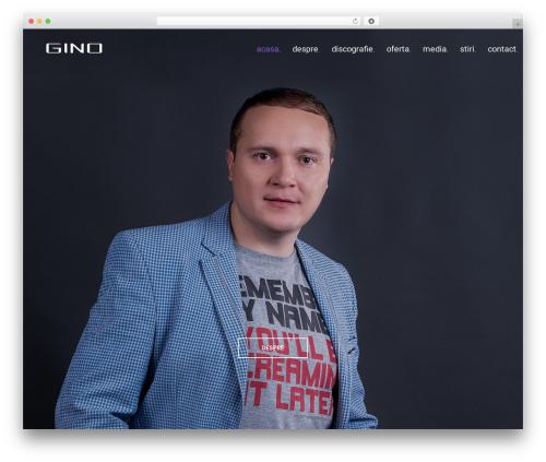 Best WordPress theme MUZIQ Jellythemes - ginomusic.ro