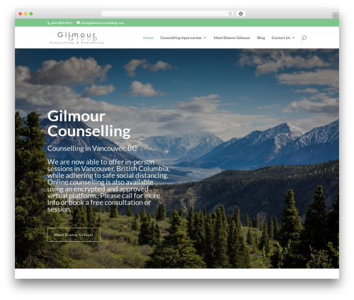 Divi WordPress page template - gilmourcounselling.com