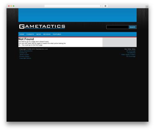 Eminent free WordPress theme - gametactics.com