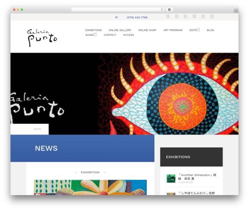 Kira Lite WordPress website template - galeria-punto.com