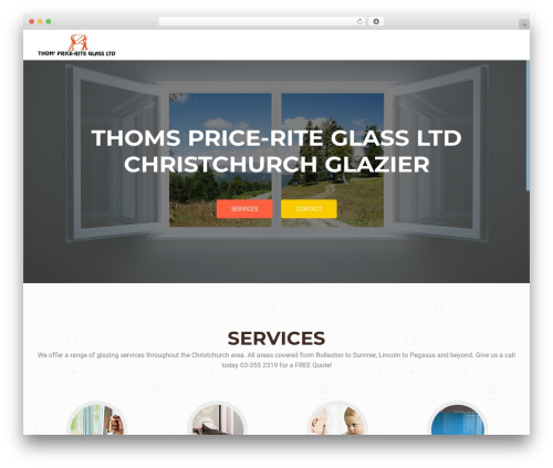 OnePirate WordPress website template - glazierchristchurch.co.nz
