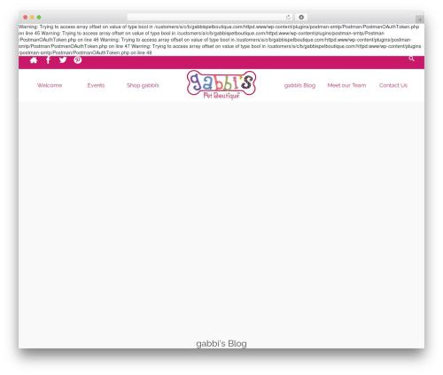 Pinnacle Premium WP template - gabbispetboutique.com