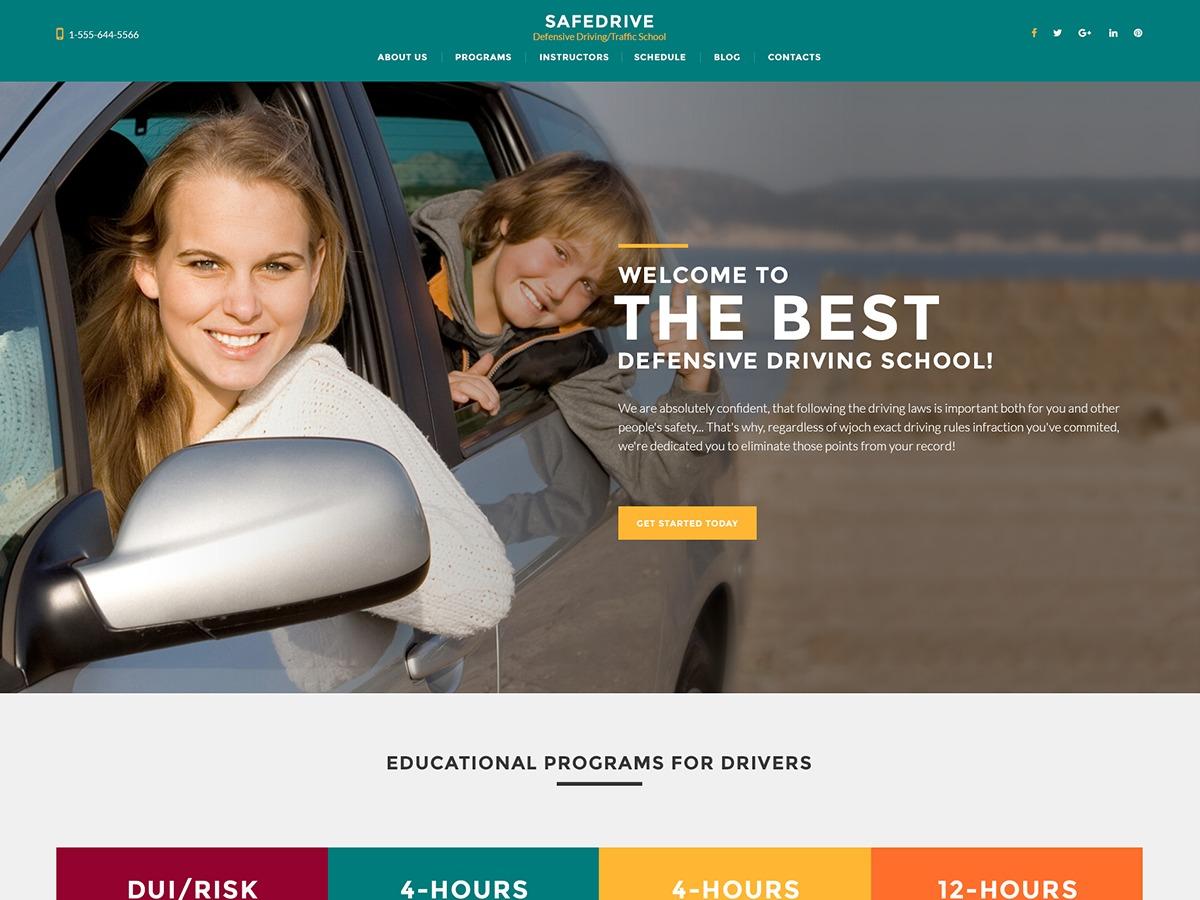 SafeDrive WordPress blog theme
