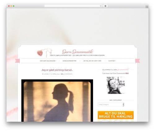 Sugar And Spice Pro WordPress theme - garngrammatik.dk