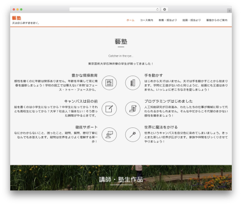 Template WordPress AccessPress Parallax - geijyuku.com