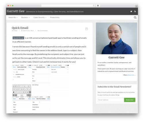 Theme WordPress Bliss by Bluthemes - garrettgee.com