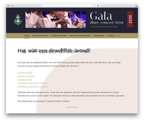 Type WordPress theme design - galaconcert.nl