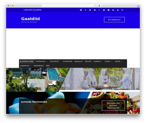 Free WordPress Simple Hijri Calendar plugin - gaaldiid.com