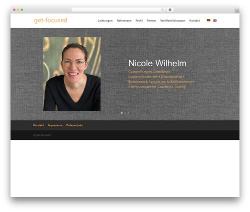 Best WordPress template Divi - get-focused.de