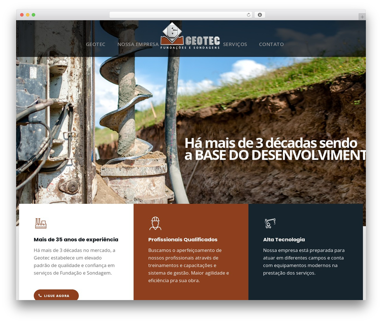 DPR Bruno WordPress theme - geotecfundacoes.com.br