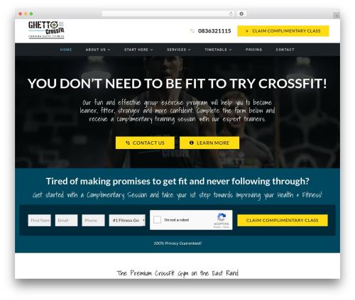 Impreza WordPress theme - ghettocrossfit.com