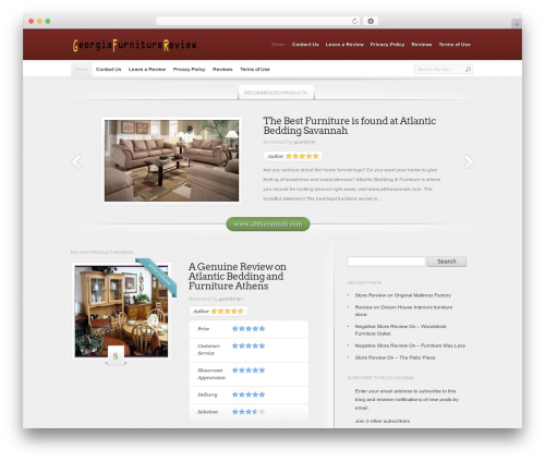 InReview best WooCommerce theme - georgiafurniturestorereview.org
