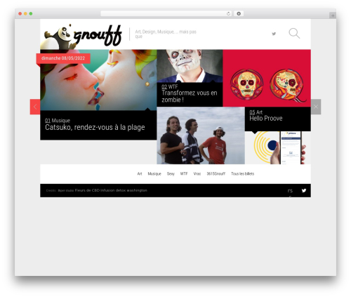 Magazine WordPress news theme - gnouff.com