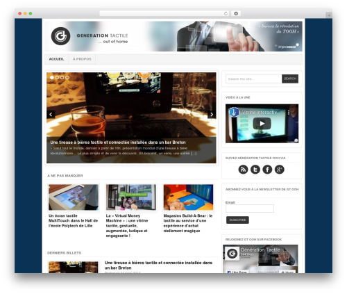 Project AR2 WordPress blog template - generation-tactile.com