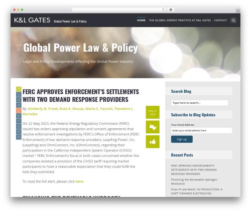SeaShell WP theme - globalpowerlawandpolicy.com