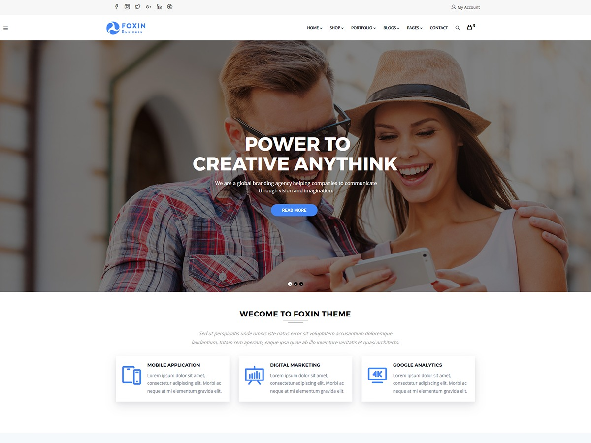WordPress theme Foxin
