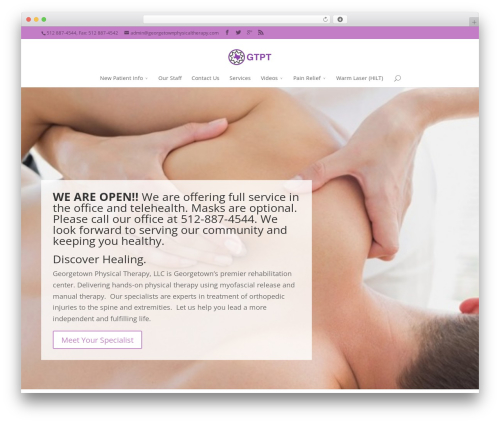WP template TLC - georgetownphysicaltherapy.com
