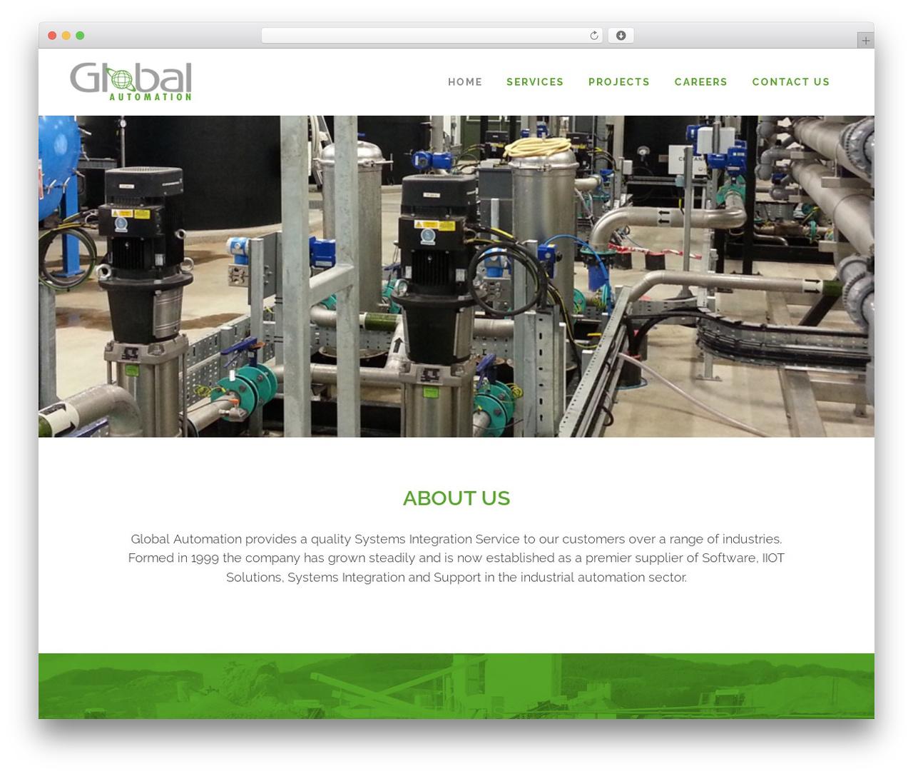 Bridge WordPress page template - globalautomation.co.uk