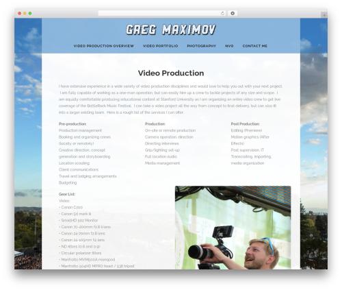 WordPress gallery-video plugin - gmaximov.com