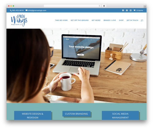 Divi WordPress template for business - givenwings.com