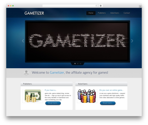 Envision Child WordPress theme - gametizer.com