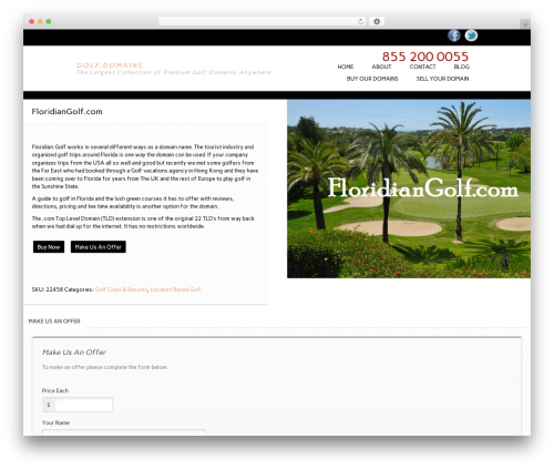 Essential WooCommerce Auction Theme WordPress store theme - golf.domains/product/floridiangolf-com