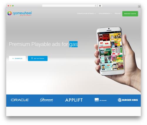 SmartMVP WordPress template - gamewheel.com