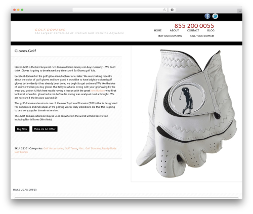 WordPress theme Essential WooCommerce Auction Theme - golf.domains/product/gloves-golf