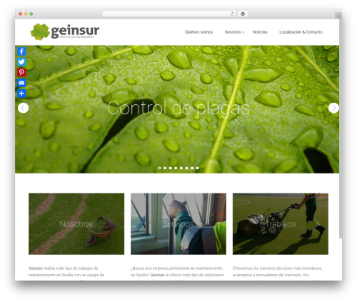 WordPress theme Satellite7 - geinsur.es