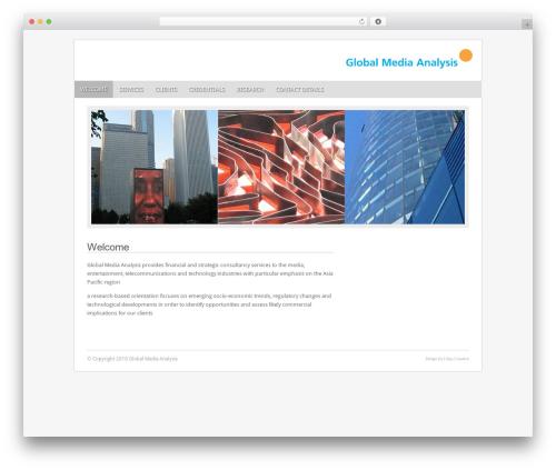 WP template Fresh And Clean - globalmediaanalysis.com