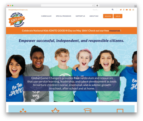 Ri Charitable WP theme - globalgamechangers.org