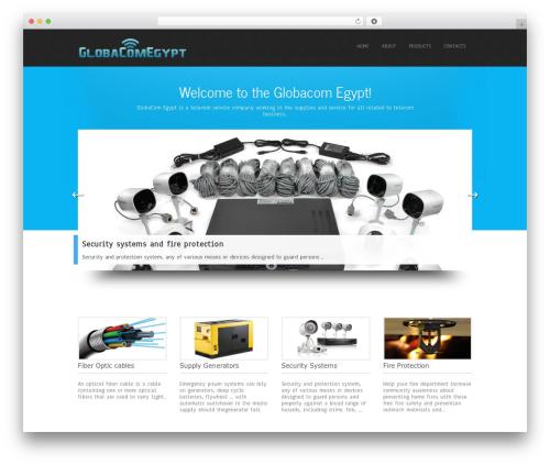 Simplicity Lite free WordPress theme - globacomegypt.com