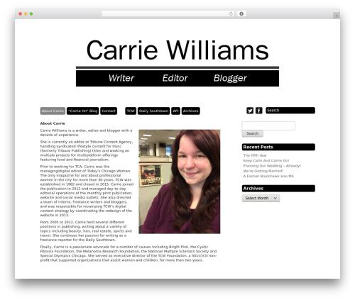 Template WordPress Grid Theme Responsive - gettincarriedaway.com