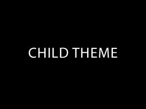 Template WordPress My Child Theme