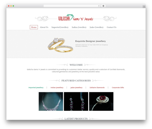 Theme WordPress Jewellery - golecha.in